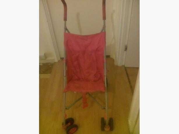 Pink girls stroller