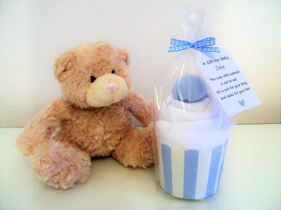 Personalised Cupcake Baby Shower Gift Nappy Cake