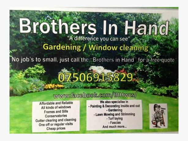 gardening and window cleaning