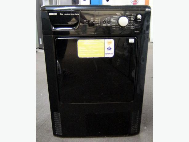 Beko 7kg Capacity Black Condenser Tumble Dryer DRCS76B, 6 Month Warranty