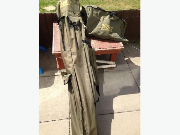 fishing rod bag and net bag