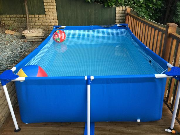 Intex large rectangular frame pool 3x2 metre 75cm deep for Uses for old swimming pools