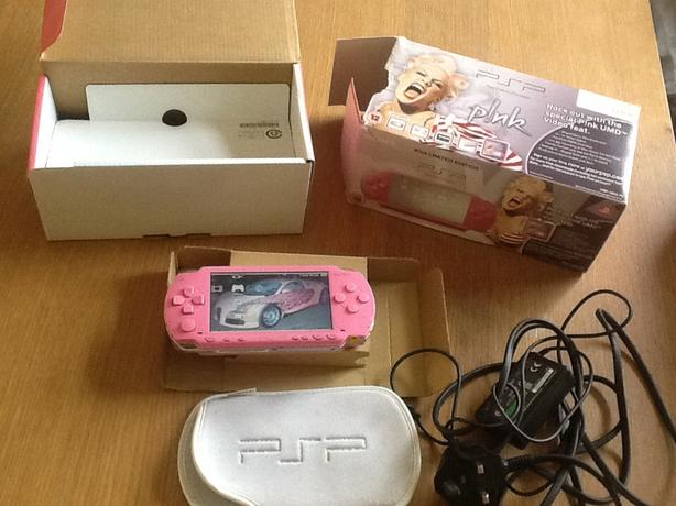 Pink PSP console.
