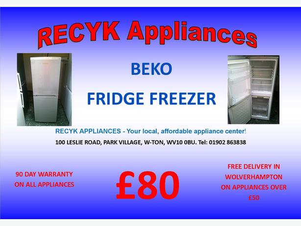 BEKO SILVER FRIDGE FREEZER WITH GUARANTEE