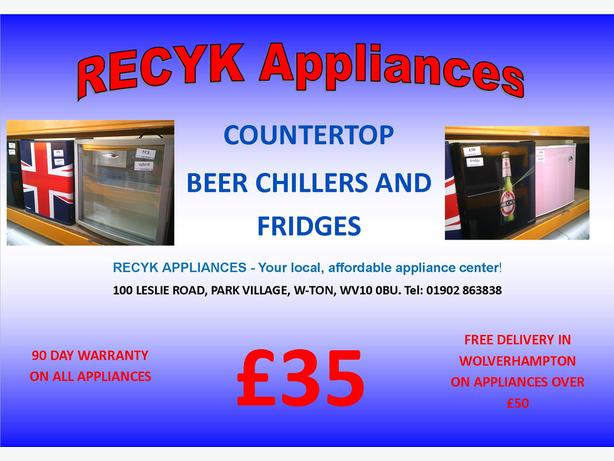 COUNTERTOP FRIDGES AND BEER CHILLERS WITH GUARANTEE