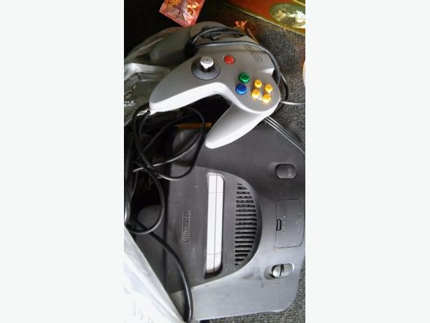 nintendo 64 console all leads game and controller