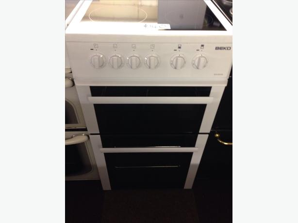 BEKO ELECTRIC COOKER DOUBLE OVEN FAN ASSITED2