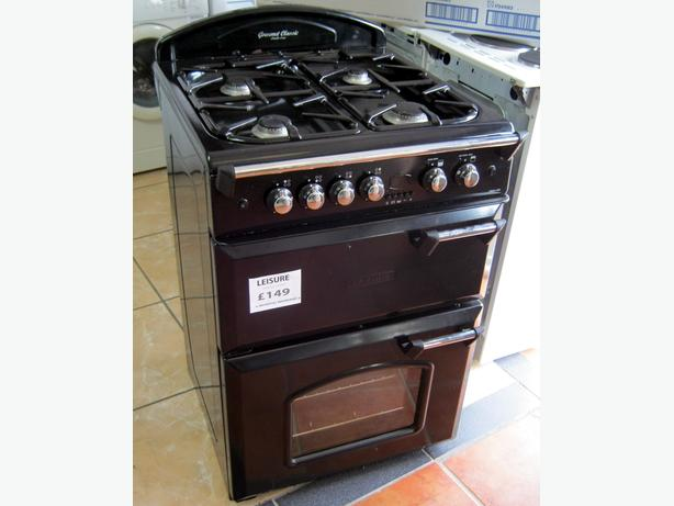Leisure Gourmet Classic 60cm Black Gas Cooker, FSD, 6 Month Warranty