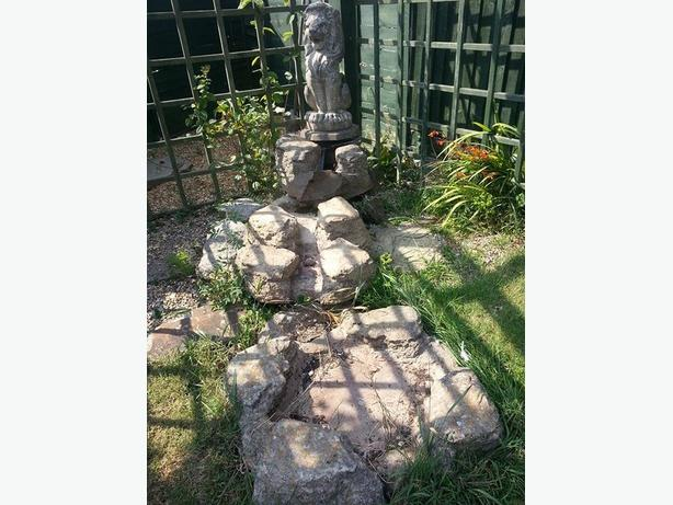 Antique Stone Waterfall & Pond New