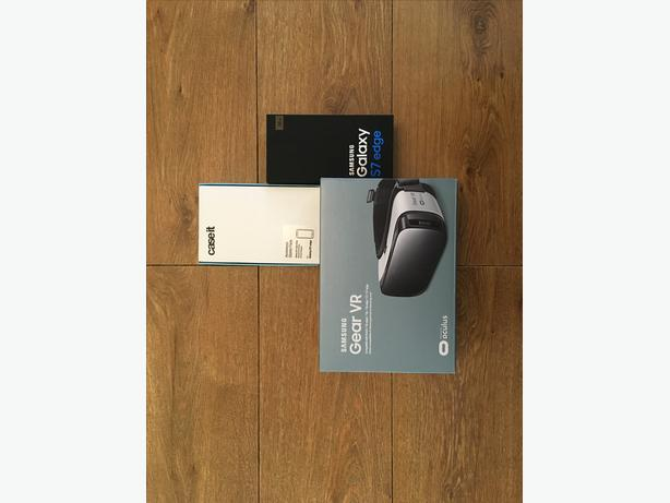 Samsung Galaxy S7 Edge Gold and Samsung Gear VR both brand new never been used