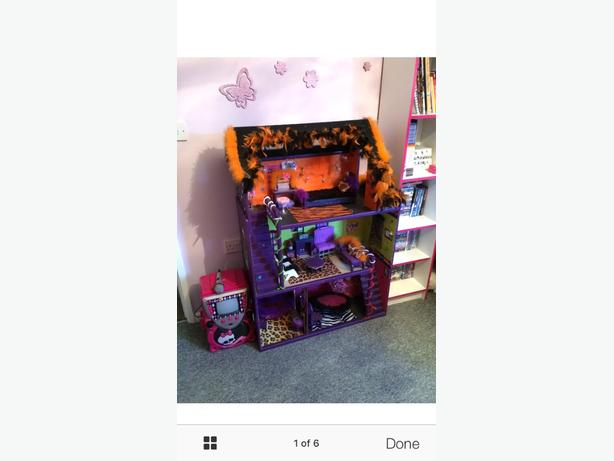 wooden monster high dolls house