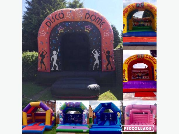 bouncy castle and disco dome for hire adults and kids size