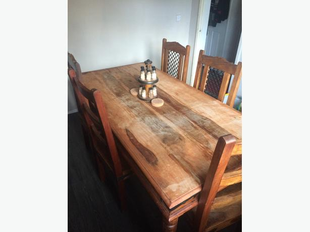 Solid Indian Oak Dining Table and 6 chairs 163160 ono  : 105856935614 from www.usedwolverhampton.co.uk size 614 x 461 jpeg 25kB