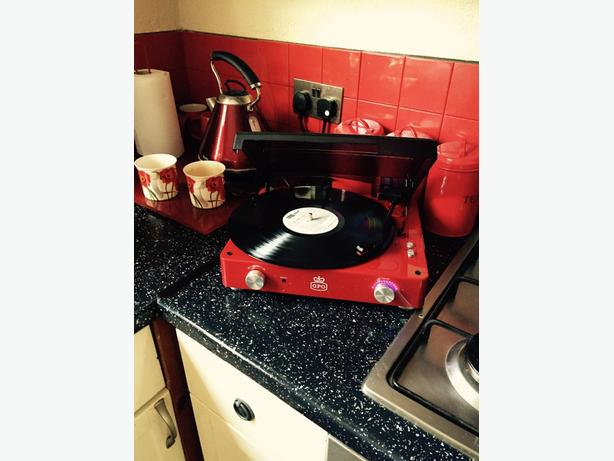 record player as new boxed