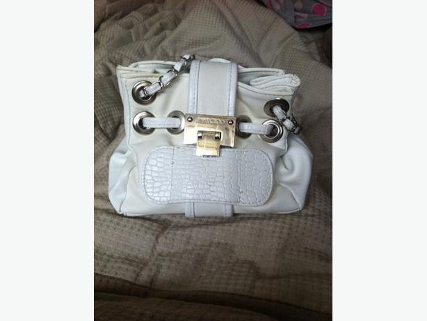 white Jimmy Choo bag