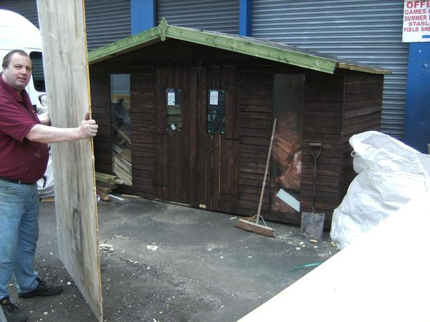 12x6 reconditioned  heavy duty shed FREE delivery