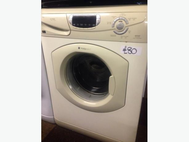 HOTPOINT 6KG SUPER SILENT LCD DISPLAY WASHING MACHINE.