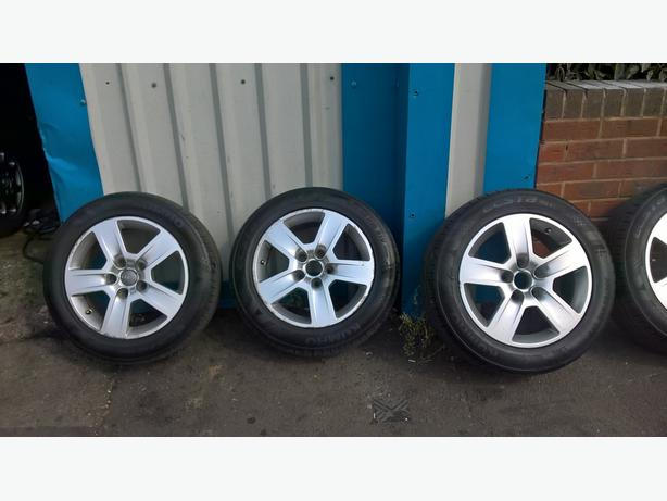 audi a3 a4 a6 vw /golf alloys and tyres full set