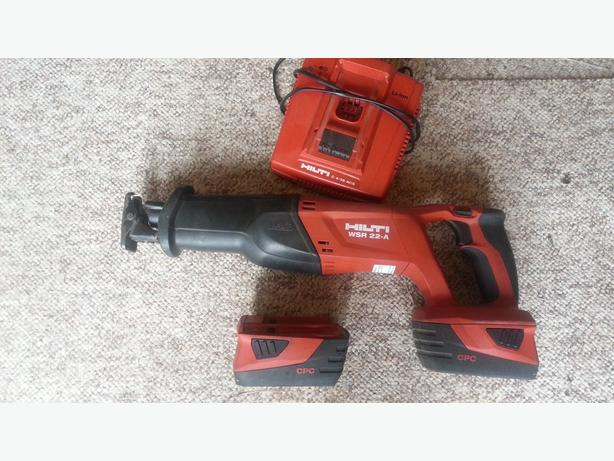 HILTI WSR 22-A Cordless Reciprocating Saw 2x3.3ah batteries
