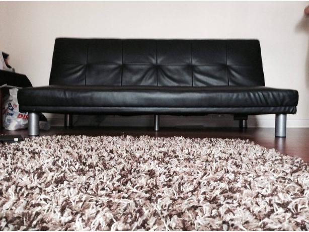 **LEATHER SOFA BED**