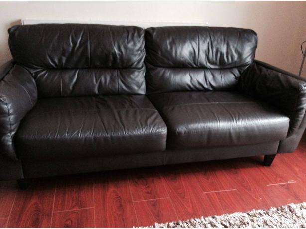 *REAL LEATHER SOFA*