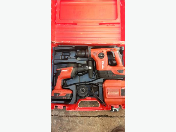 HILTI SD5000 SCREWGUN + HILTI TE4-A22 HAMMER SDS DRILL CORDLESS