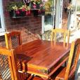 stunning colonial dining table + 4 chairs
