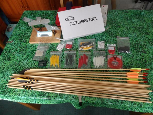 Archery Arrow build bits and bobs (REDUCED TO £40)