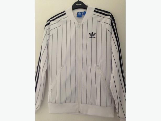 Adidas white and black jacket