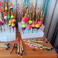 195 Hand Crafted Traditional Fishing Floats