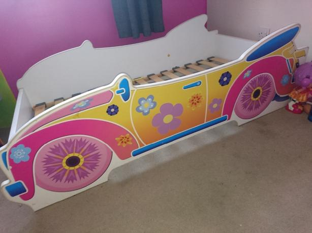 toddler car sleigh bed girls