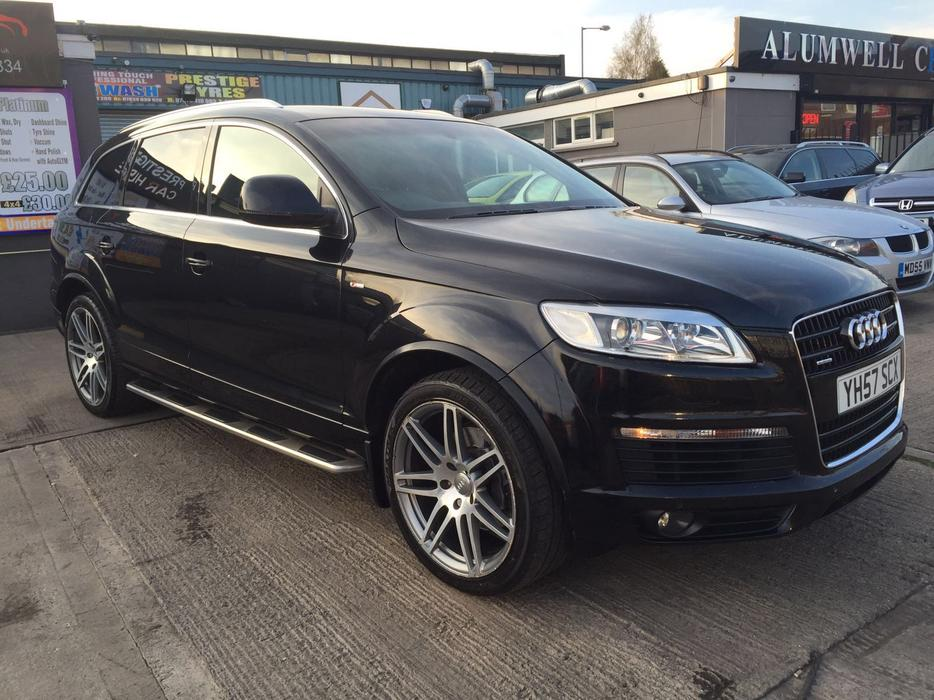 2007 audi q7 s line tdi quattro 4 2 auto black px or swaps walsall sandwell. Black Bedroom Furniture Sets. Home Design Ideas