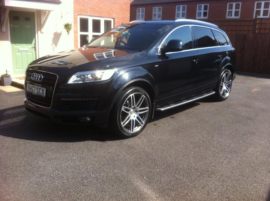 2007 audi q7 s line tdi quattro 4 2 auto black px or swaps walsall wolverhampton. Black Bedroom Furniture Sets. Home Design Ideas