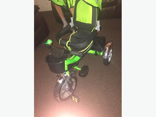 4 in 1 bike pushchair trike