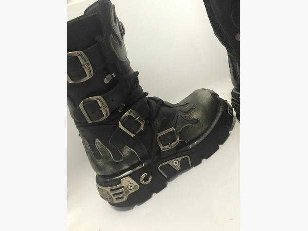 New Rock Reactor Gothic Boots Unisex - 100% Real Leather