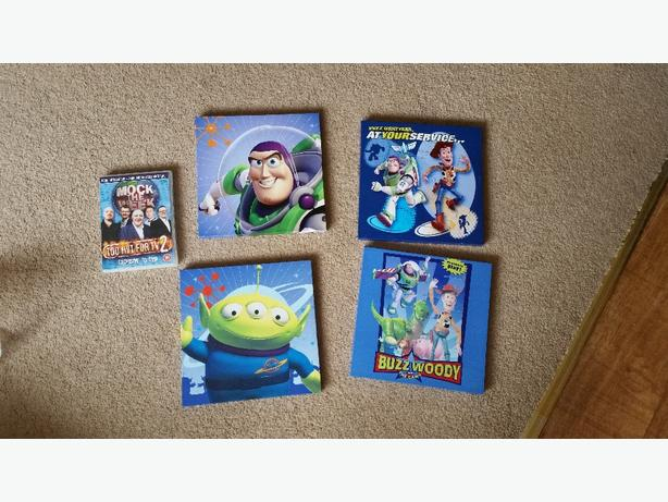 job lot of toy story canvas pictures
