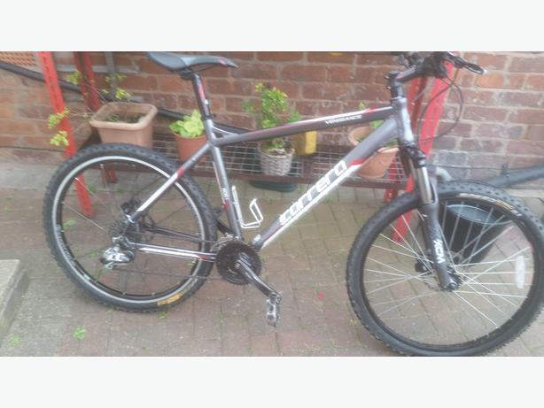 carerra bike with hydraulic brake