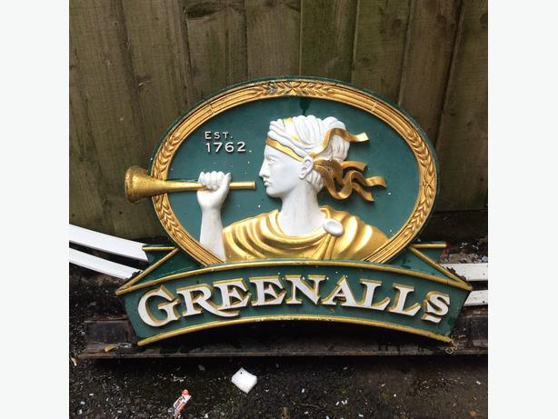 Rare grenalls brewery pub sign collectable