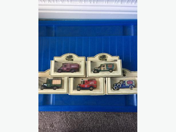 die-cast model cars boxed