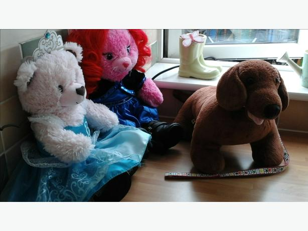 3 X Build a bear soft toys