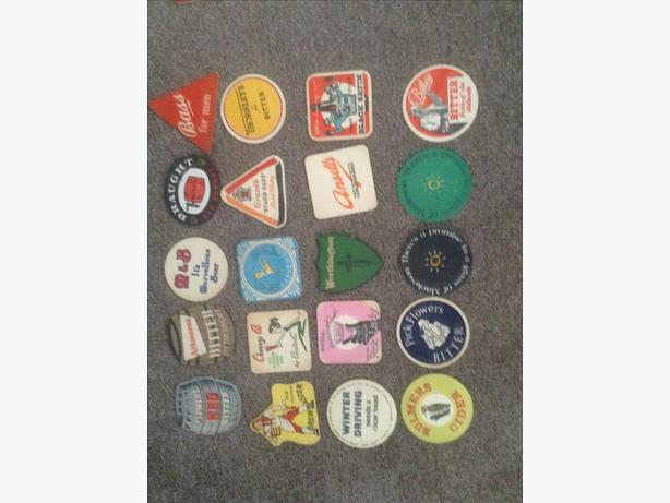 1950's/60's variety of beer mats