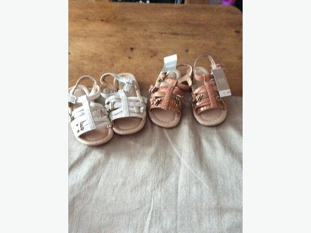Two pairs of infant size four Next sandaIs.