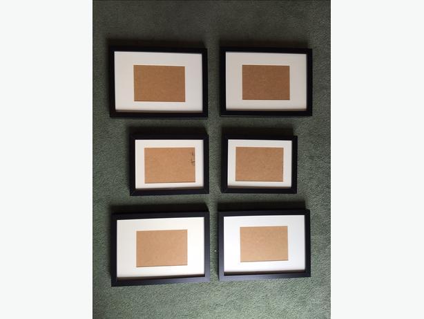 6 IKEA (RIBBA) Picture Frames