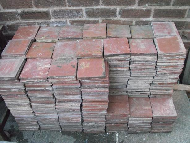 Red quarry floor tiles 6x6  aprox 500