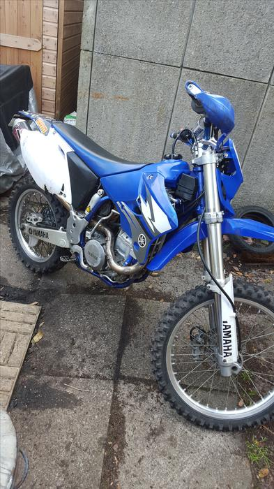 03 yamaha wr450f with supermoto wheels 2650 sandwell. Black Bedroom Furniture Sets. Home Design Ideas