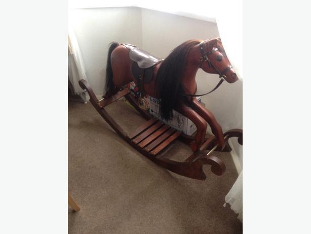 solid mahogany rocking horse