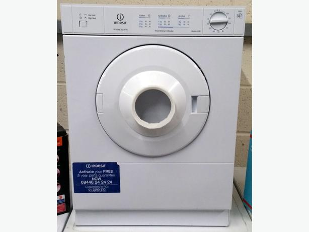 INDESIT 3KG VENTED TUMBLE DRYER + WARRANTY