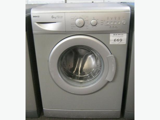 Beko Silver Washing Machine, 6kg Capacity, 1300 Spin, 6 Month Warranty
