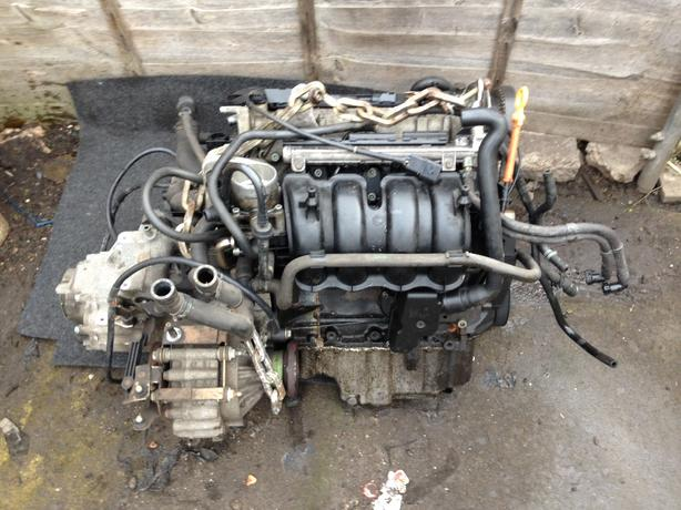 vw 1.6 complete engine and box