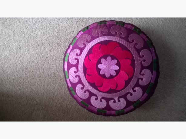 decorative small purple footstool
